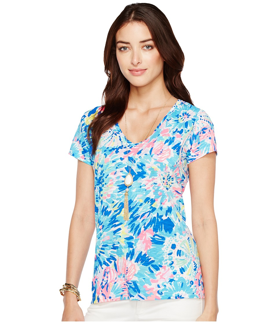 Lilly Pulitzer - Meredith Short Sleeve Tee (Multi Dive in Reduced) Women's T Shirt