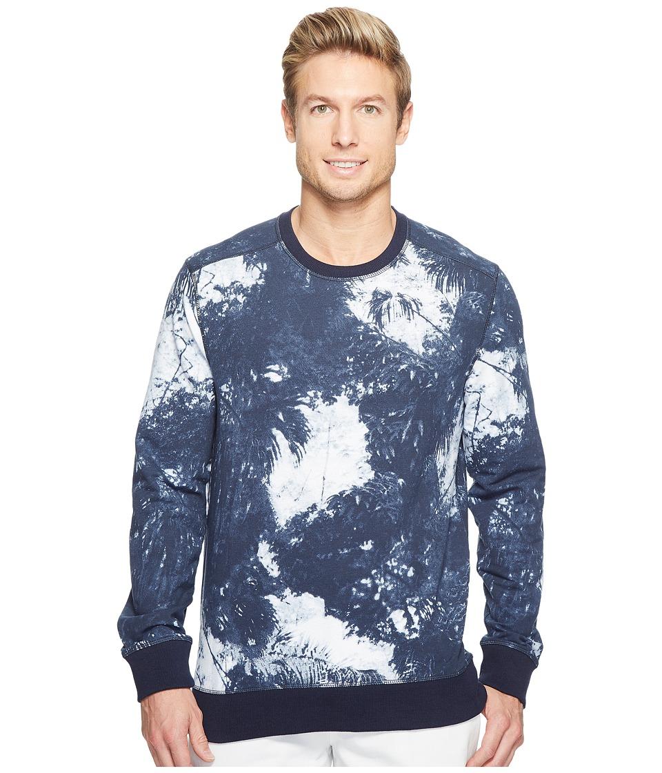 Calvin Klein Jeans - Palm Print Sweatshirt (Black Iris) Men's Sweatshirt
