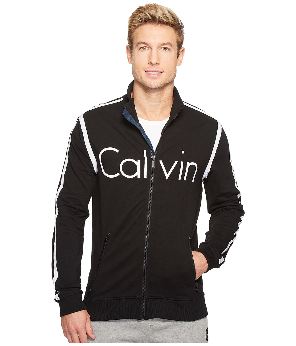 Calvin Klein Jeans Rebel Sport Calvin Track Jacket (Black) Men