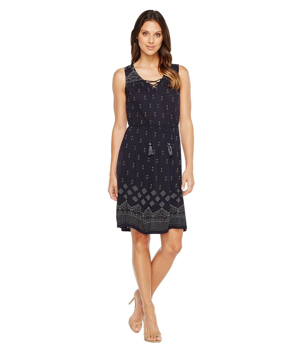 Lucky Brand - Beaded Tank Dress (Navy Multi) Women's Dress