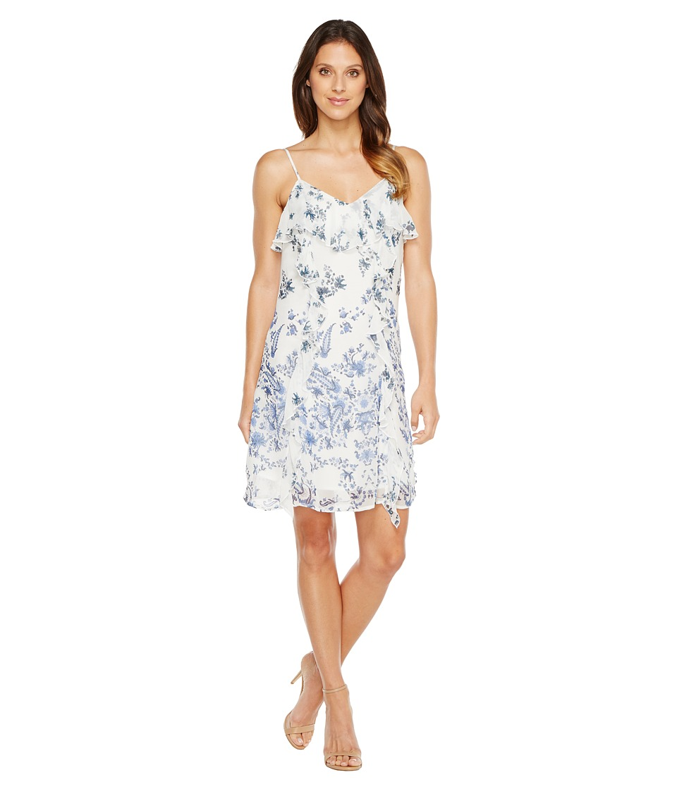 Lucky Brand - Ruffle Bare Strap Dress (Blue Multi) Women's Dress