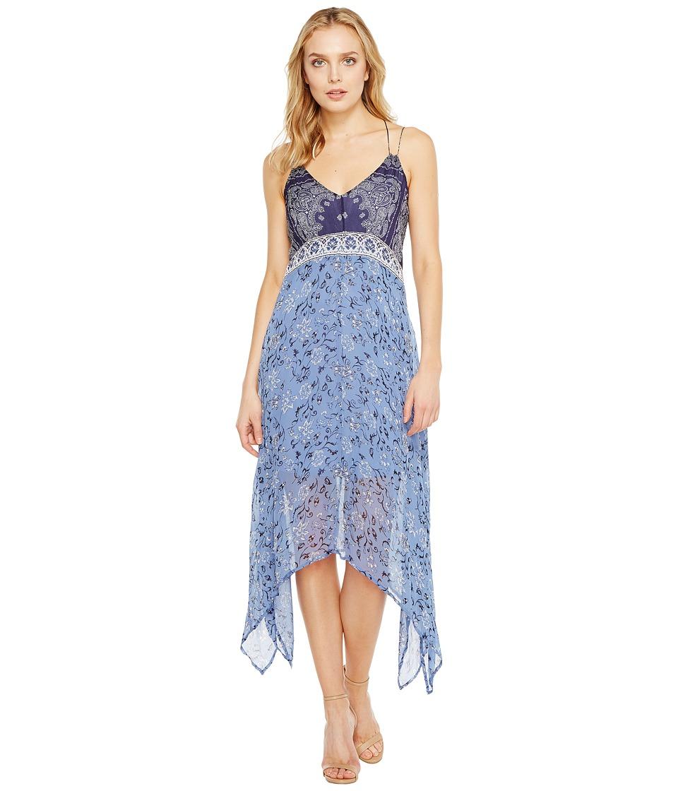 Lucky Brand - Scarf Print Dress (Navy Multi) Women's Dress