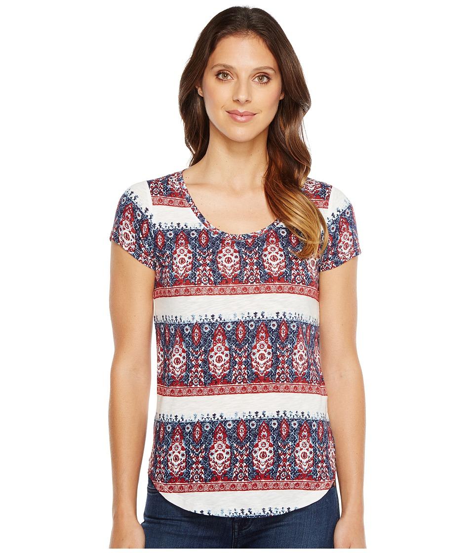 Lucky Brand - Bandana Stripe Tee (Multi) Women's T Shirt