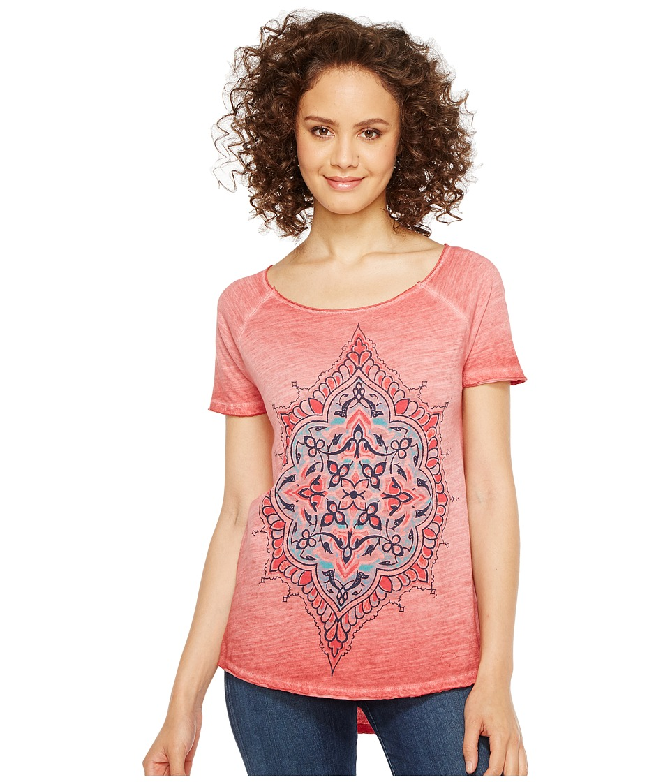 Lucky Brand Geo Floral Tee (Biking Red (Prior Season)) Women