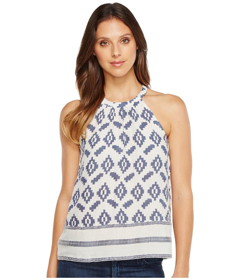 Lucky Brand - Diamond Halter Top (Blue Multi) Women's Clothing