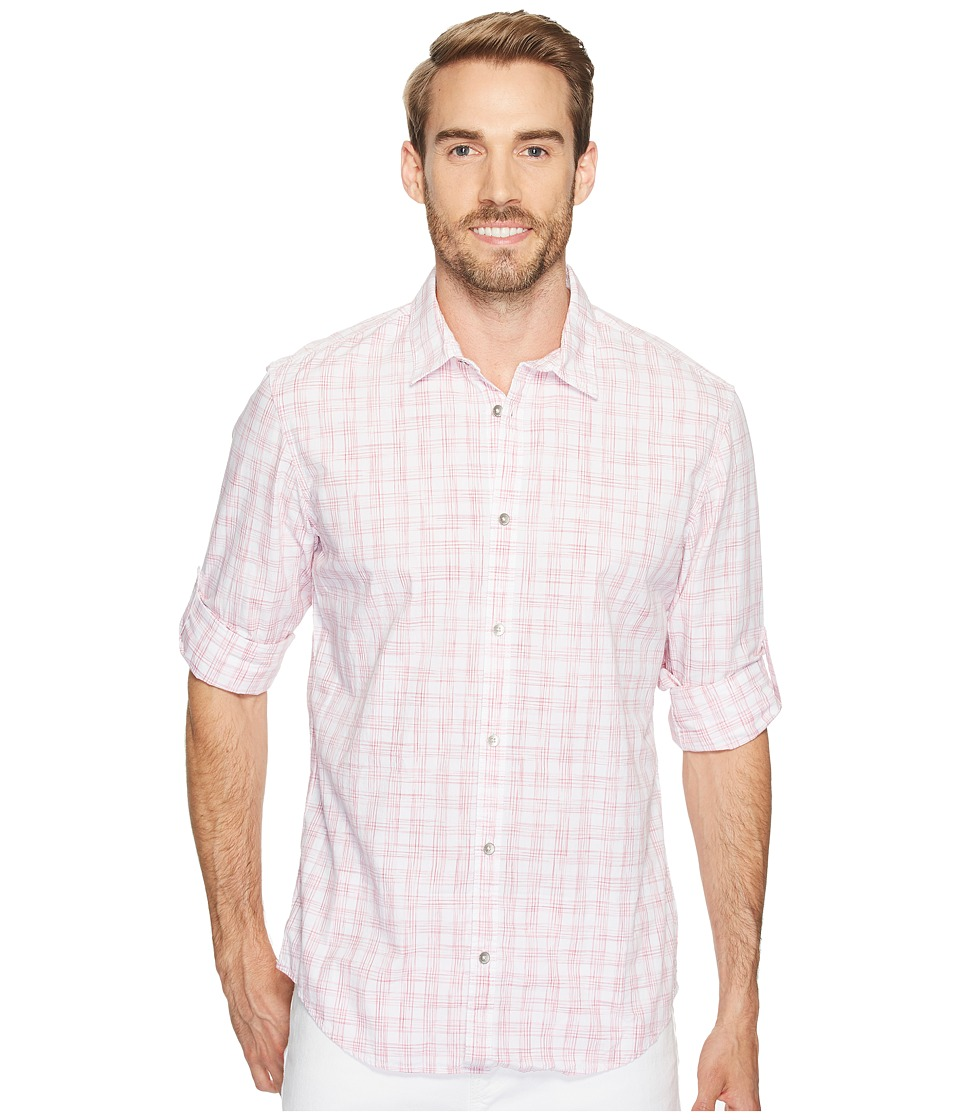 Calvin Klein Jeans - Space Dye Roll-Tab Button Down (Miami Pink) Men's Long Sleeve Button Up