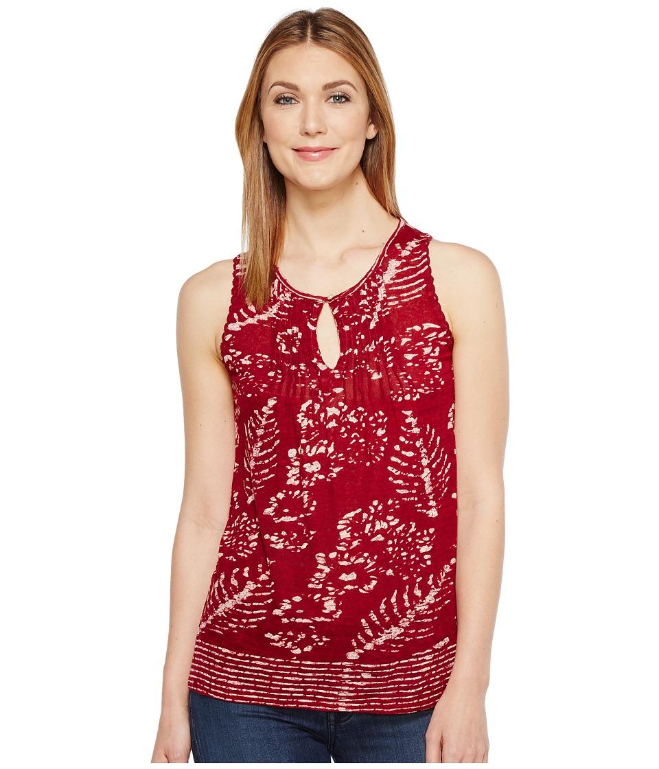Lucky Brand - Levit Batik Tank Top (Red Multi) Women's Sleeveless