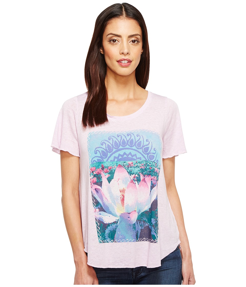 Lucky Brand Lavender Lotus Tee (Orchid Bloom) Women