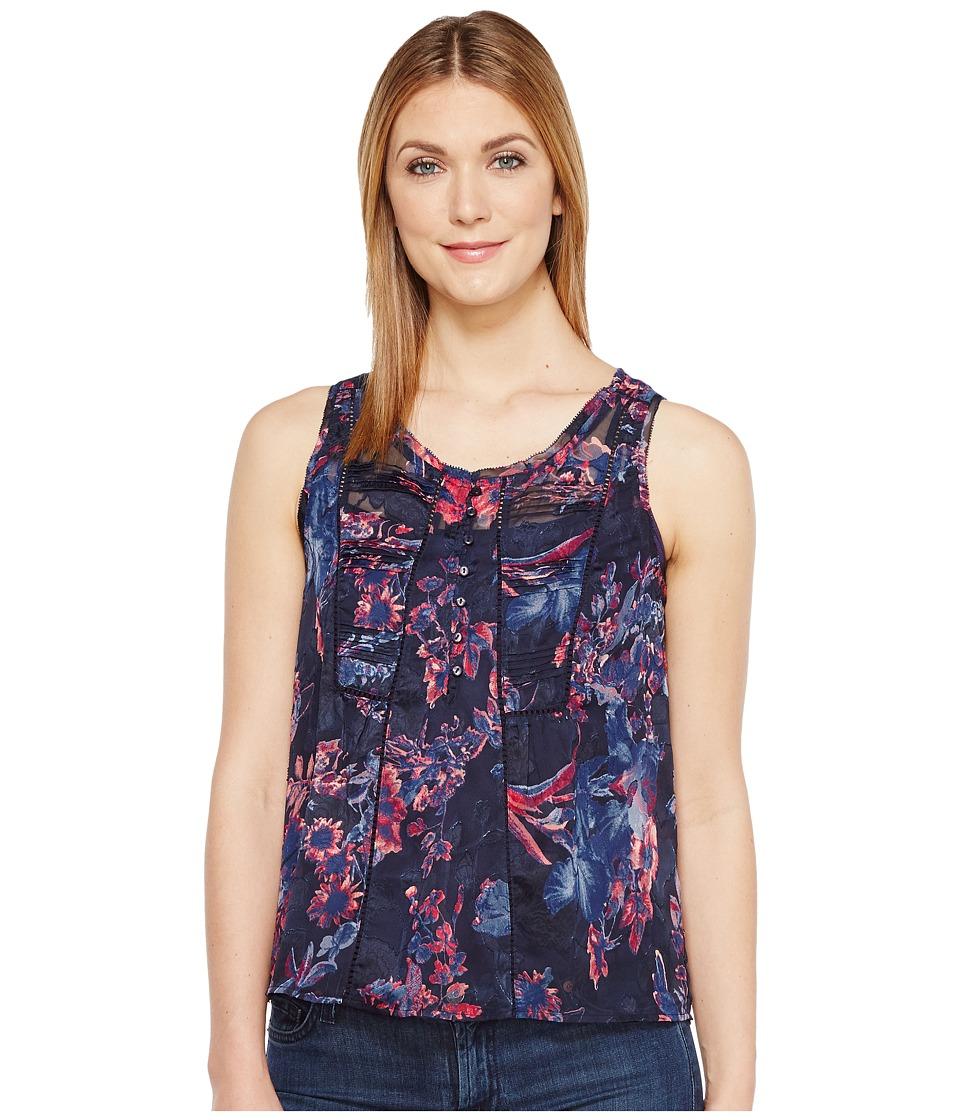 Lucky Brand - Audrey Floral Tank Top (Navy Multi) Women's Sleeveless
