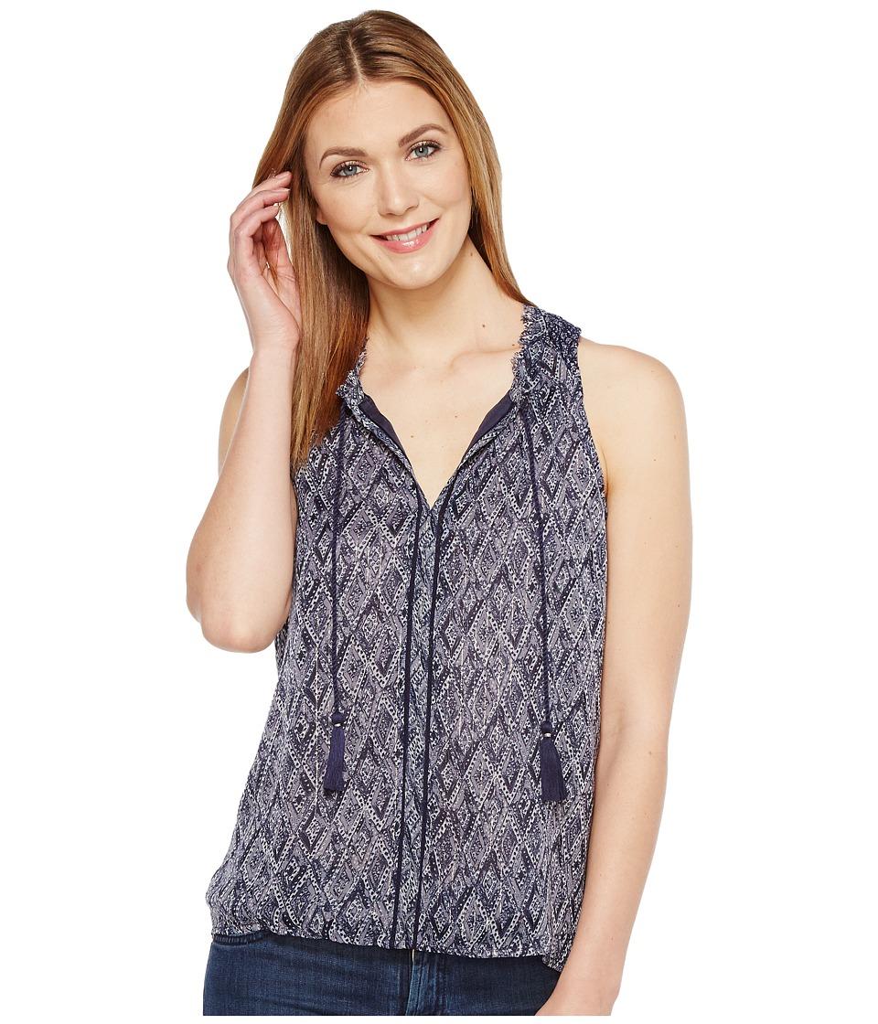 Lucky Brand - Scarf Tank Top (Blue Multi) Women's Sleeveless