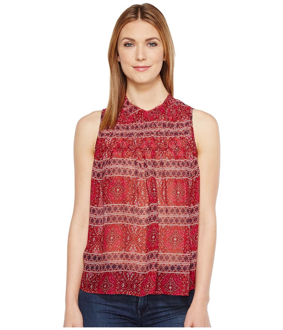 Lucky Brand - Tucked Tank Top (Red Multi) Women's Sleeveless