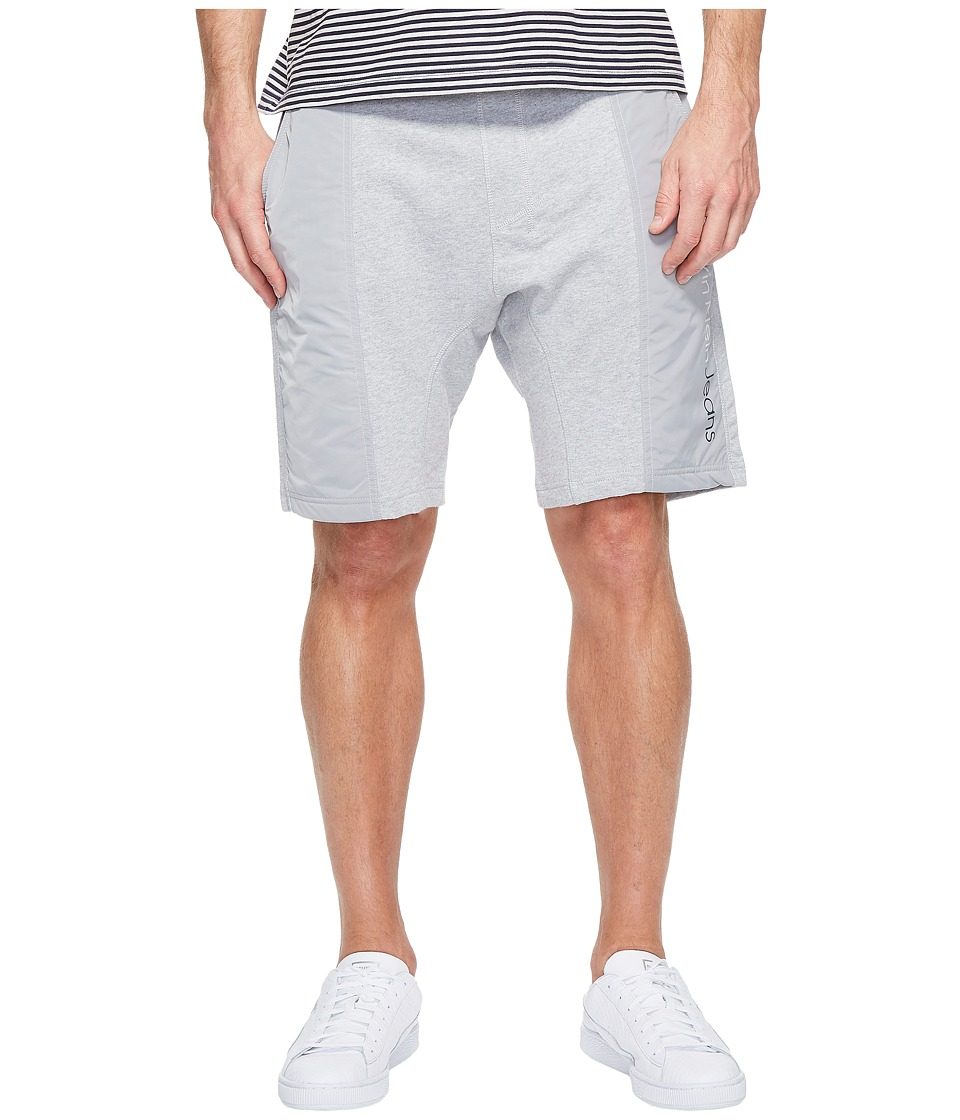 Calvin Klein Jeans - Rebel Sport Mixed Nylon Shorts (Light Grey Heather) Men's Shorts