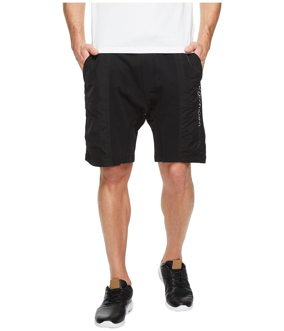 Calvin Klein Jeans - Rebel Sport Mixed Nylon Shorts (Black) Men's Shorts