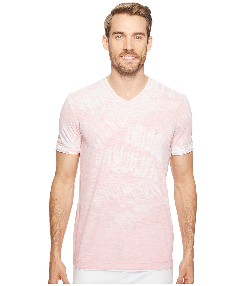 Calvin Klein Jeans - Weekend Palms V-Neck T-Shirt (Foxglove) Men's T Shirt