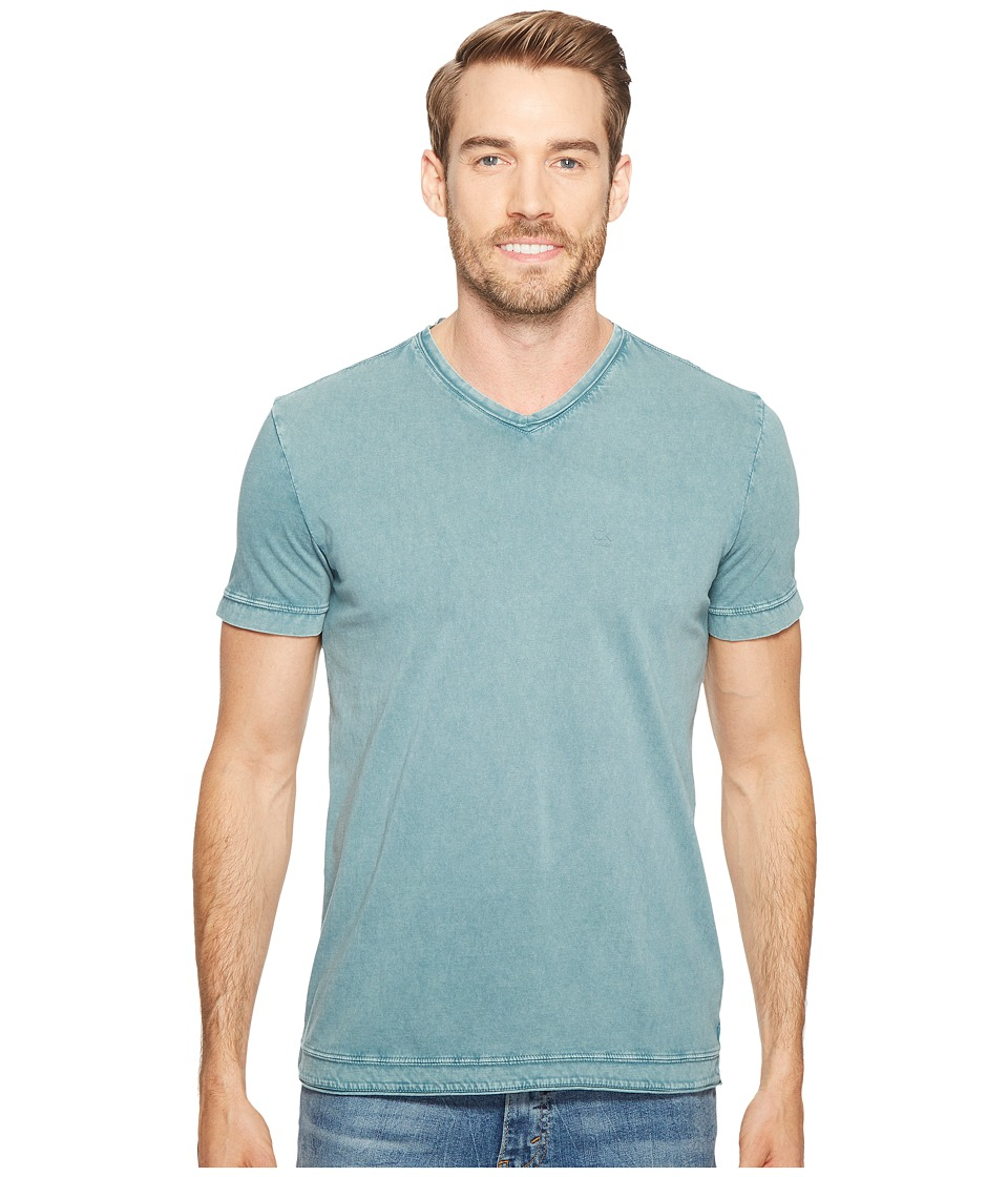 Calvin Klein Jeans - Weekend Acid Wash V-Neck T-Shirt (Keel Blue) Men's T Shirt