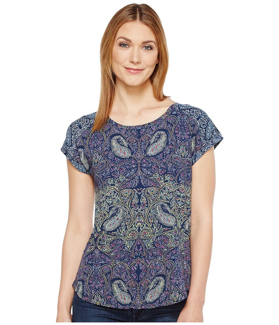 Lucky Brand - Paisley Printed Tee (Multi) Women's T Shirt