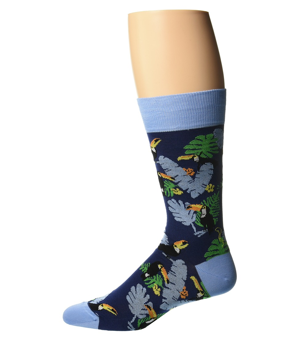 BUGATCHI - Tucan Socks (Navy) Men's Quarter Length Socks Shoes