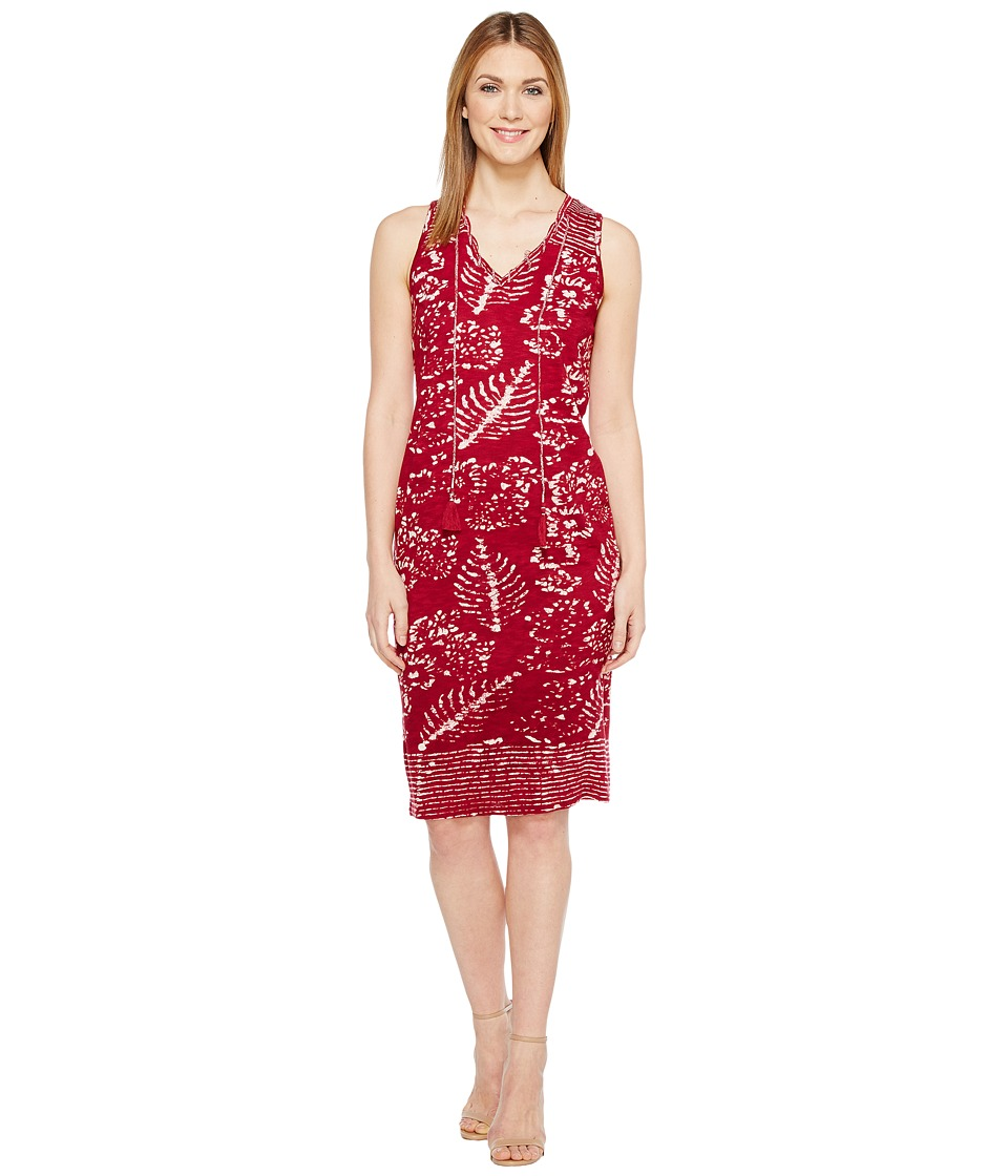 Lucky Brand - Red Batik Print Dress (Burgundy Multi) Women's Dress