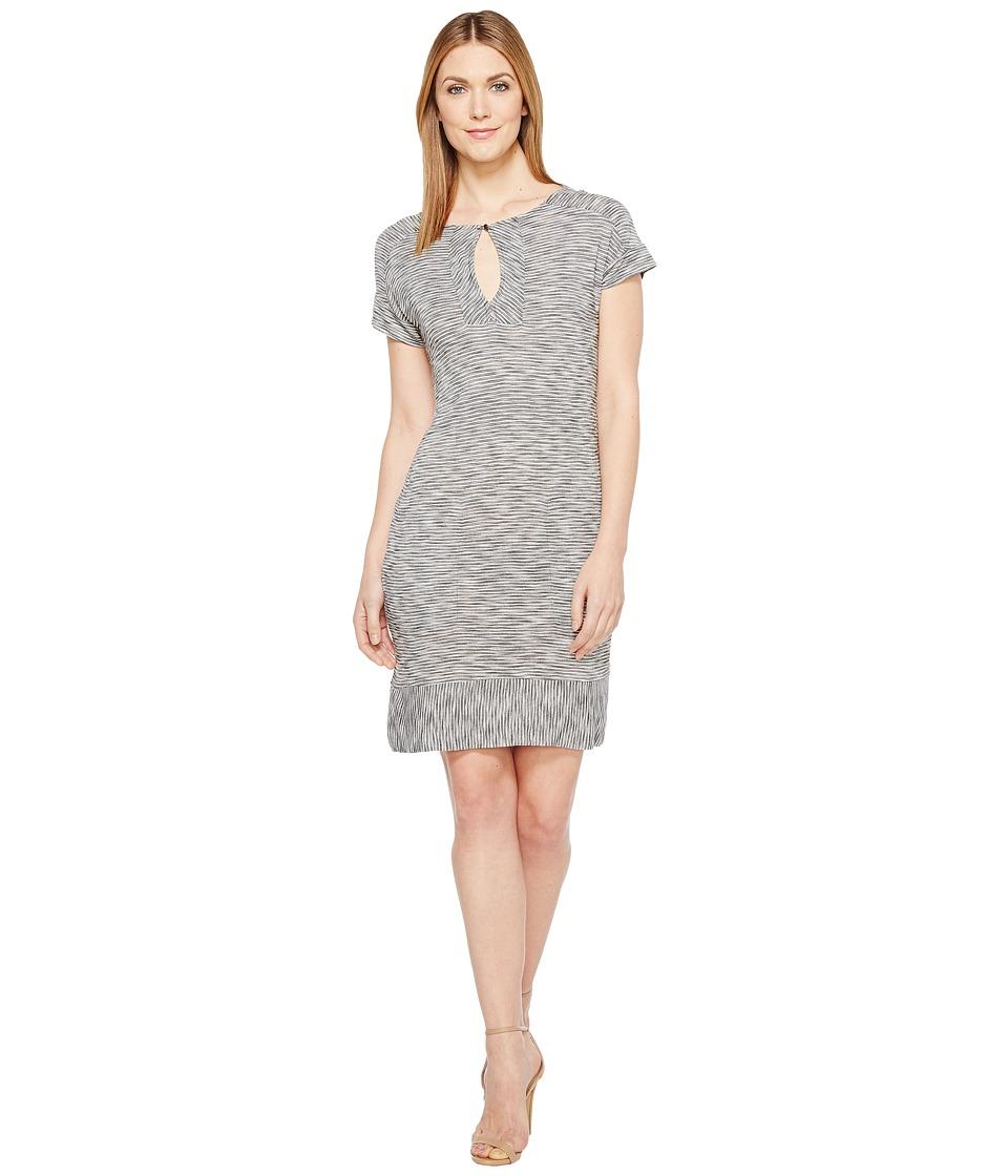 Lucky Brand - Striped Tee Dress (Black Multi) Women's Dress