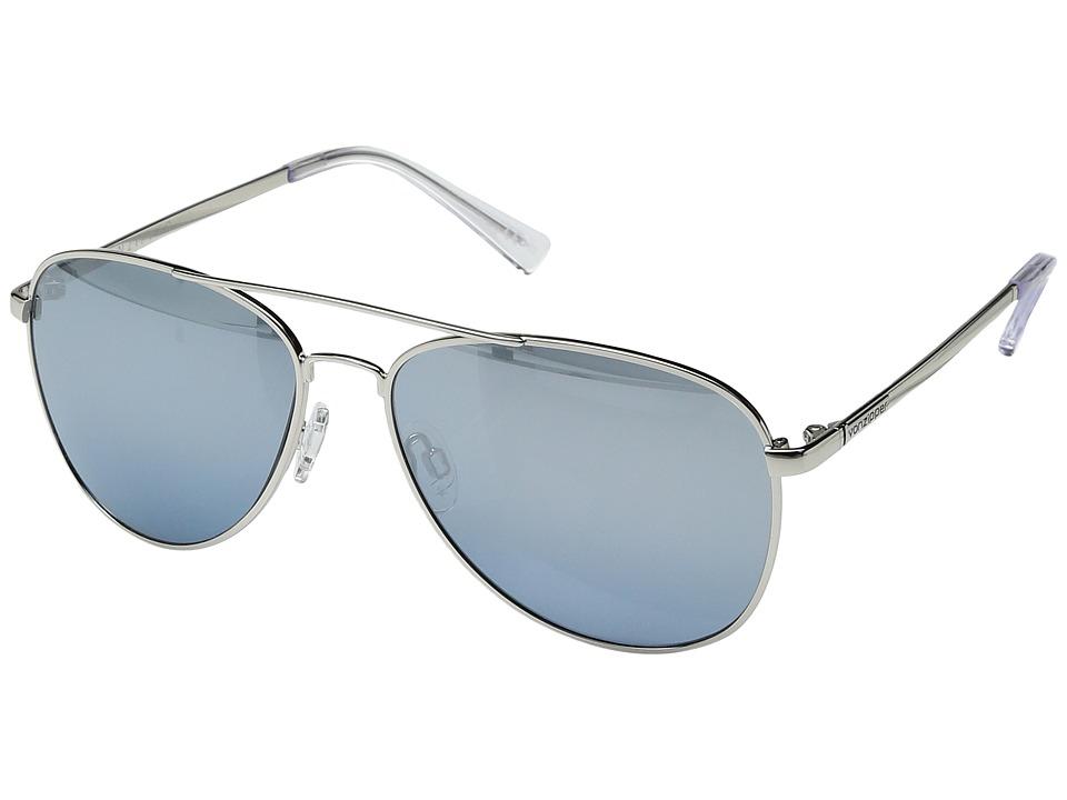 VonZipper - Farva (Silver Gloss/Navy Chrome Gradient) Fashion Sunglasses