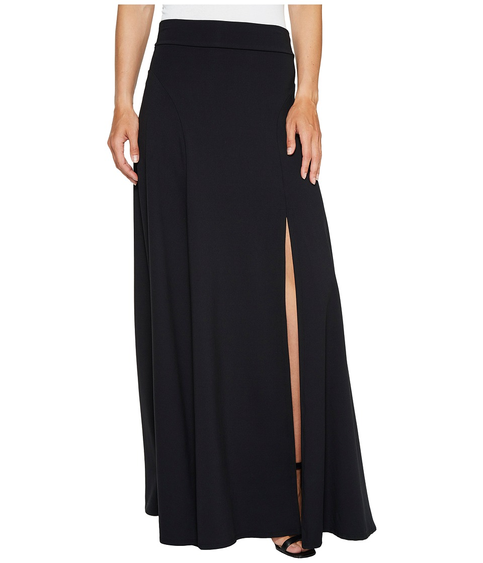 Susana Monaco Slit Skirt (Black) Women's Skirt