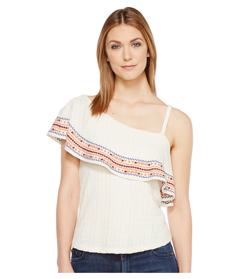 Lucky Brand - Embroidered Off the Shoulder Top (Marshmallow) Women's Clothing