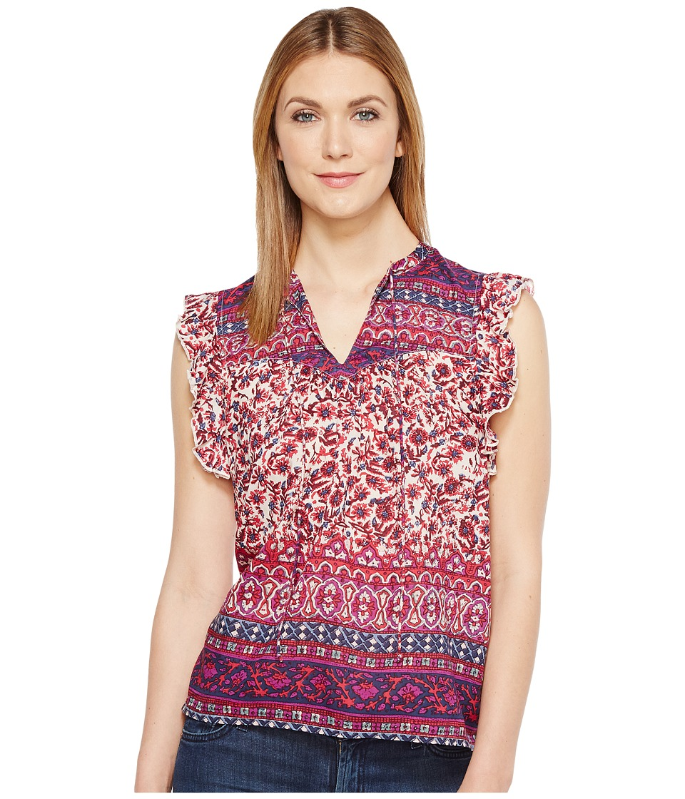 Lucky Brand - Lucy Peasant Top (Purple Multi) Women's Clothing
