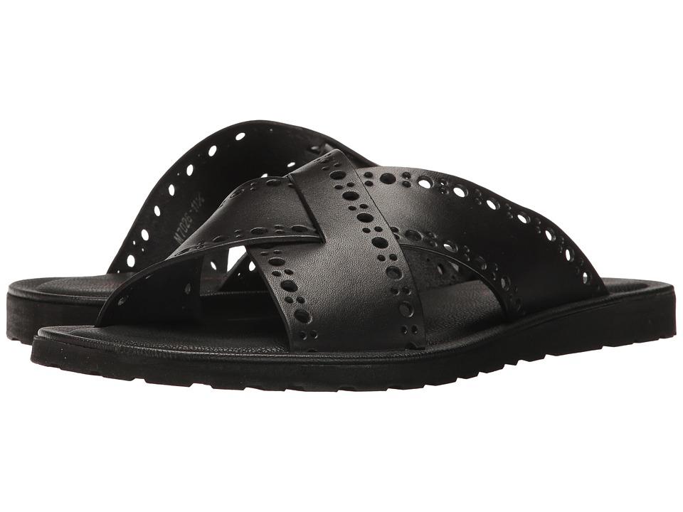 Massimo Matteo - 2 Band Slide (Black) Men's Sandals