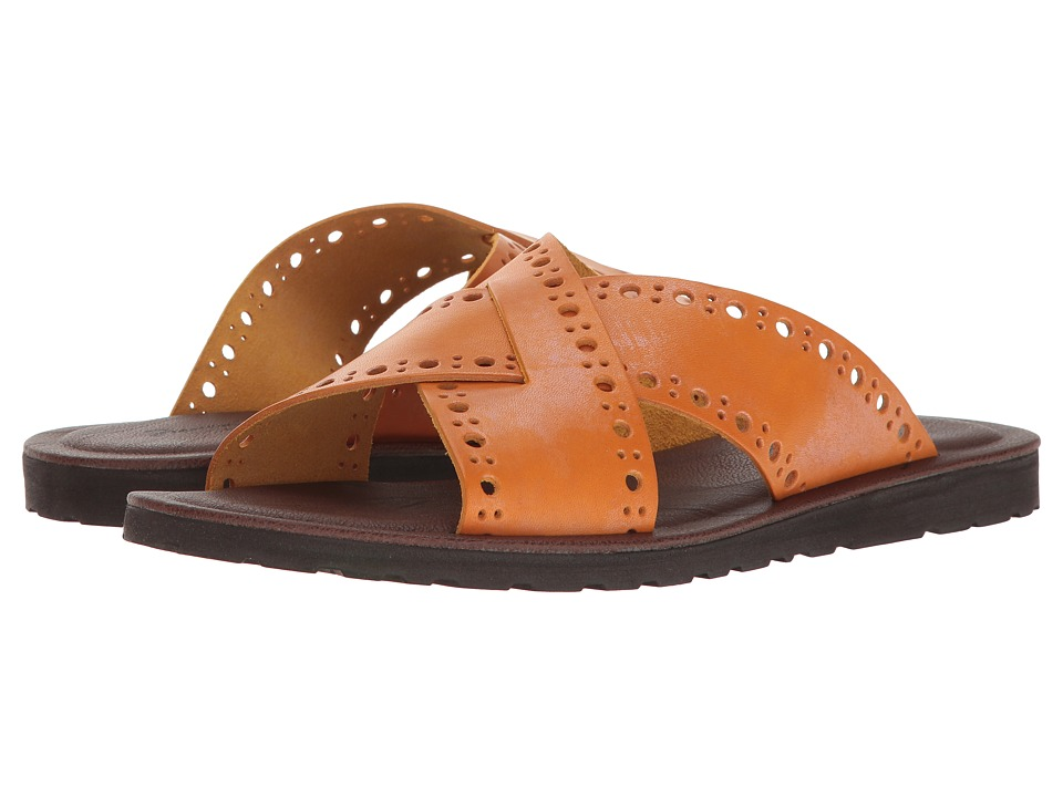 Massimo Matteo - 2 Band Slide (Yellow) Men's Sandals