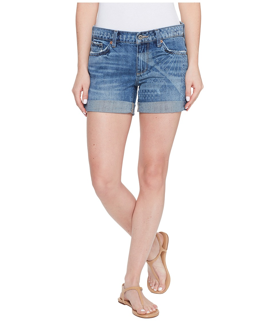 Lucky Brand The Roll Up with Shibori Print Shorts in Little Elm (Little Elm) Women