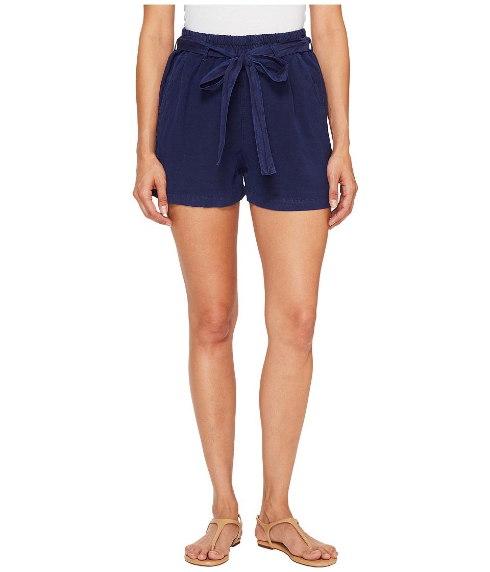 Lucky Brand Tie Front Linen Shorts in American Navy (American Navy) Women