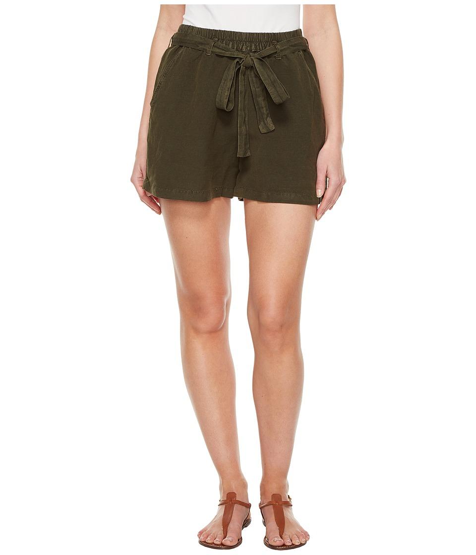 Lucky Brand Tie Front Linen Shorts in Deep Depths (Deep Depths) Women