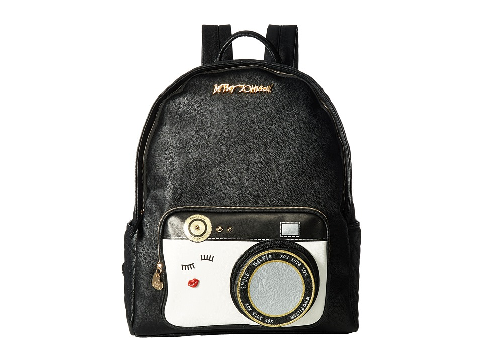 Betsey Johnson - Papparazzi Backpack (Black) Backpack Bags
