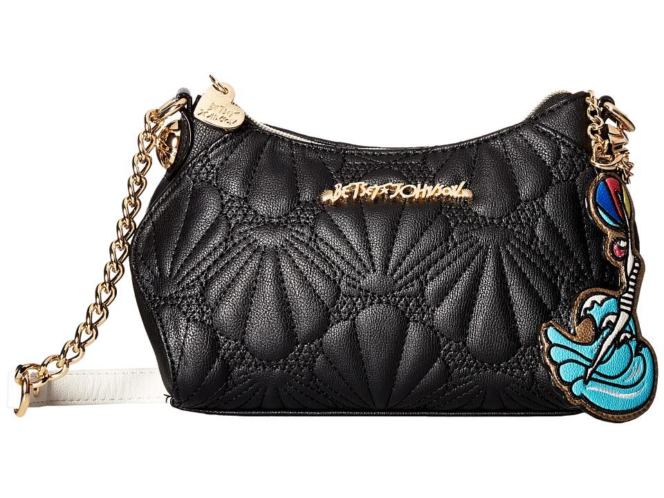 Betsey Johnson - Shell Yeah Crossbody (Black) Cross Body Handbags