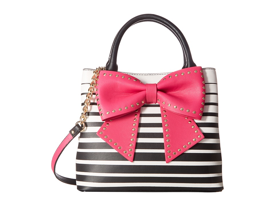 Betsey Johnson - Hopefully Romantic (Stripe Fuchsia) Handbags