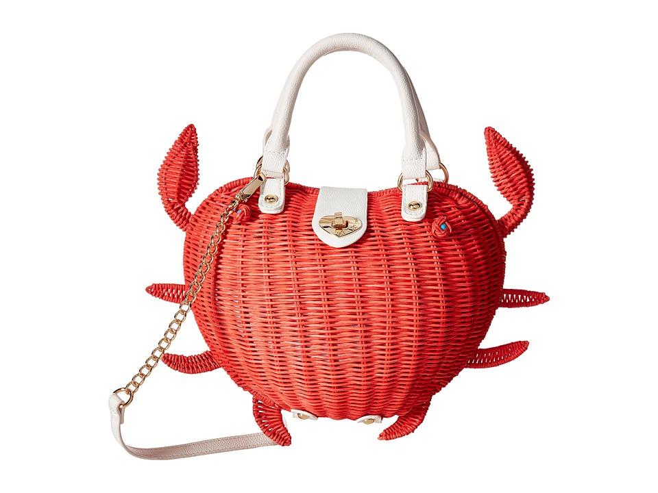 Betsey Johnson - Crab Calloway Crossbody (Coral) Cross Body Handbags