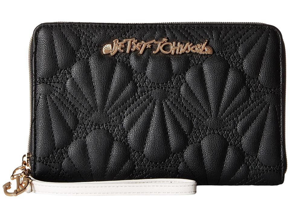 Betsey Johnson - Shell Yeah Large Wallet (Black) Wallet Handbags