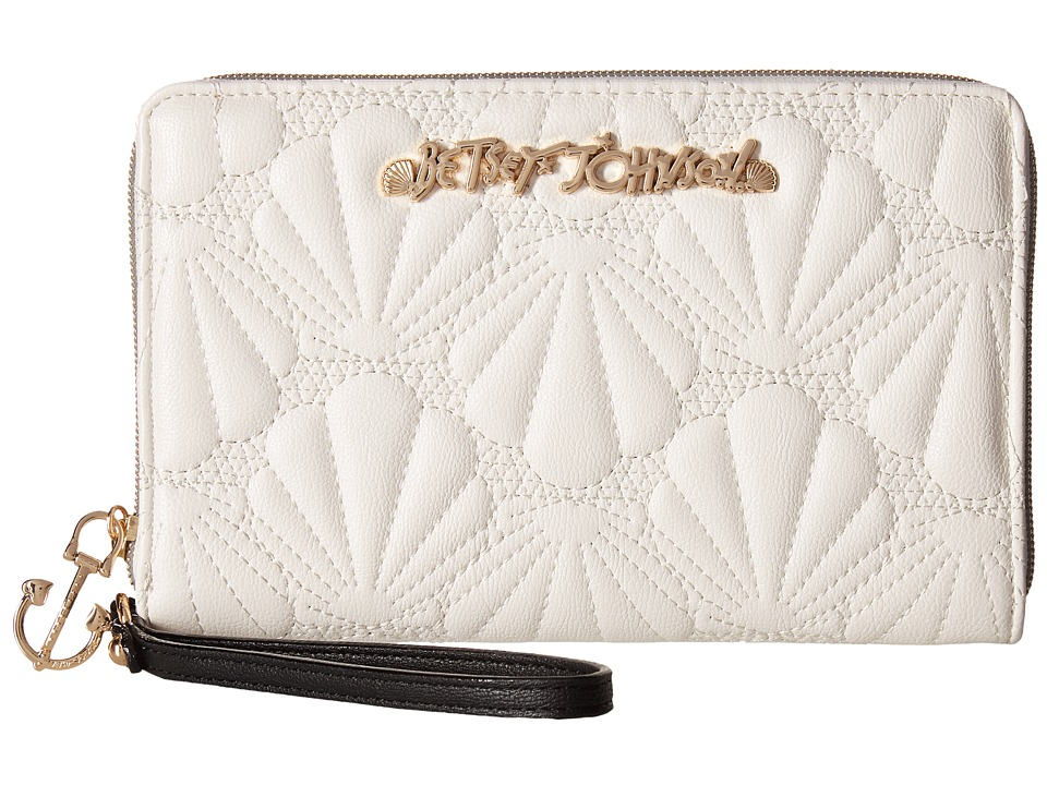 Betsey Johnson - Shell Yeah Large Wallet (Cream) Wallet Handbags