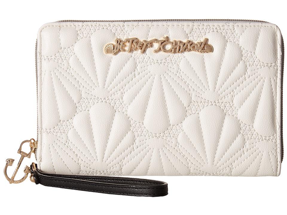 Betsey Johnson - Shell Yeah Large Wallet (Cream) Wallet Handbags
