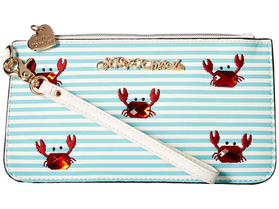 Betsey Johnson - Don't Be Shellfish Wristlet (Turquoise) Wristlet Handbags