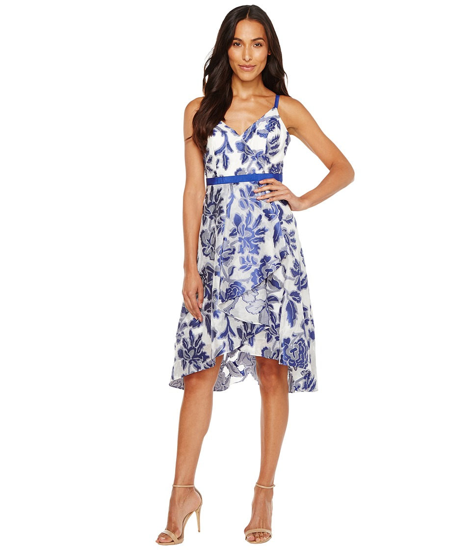 Adrianna Papell Burnout Jacquard Fit Flare Dress
