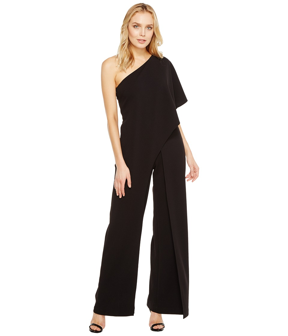 Adrianna Papell - One Shoulder Jumpsuit (Black) Women's Jumpsuit & Rompers One Piece