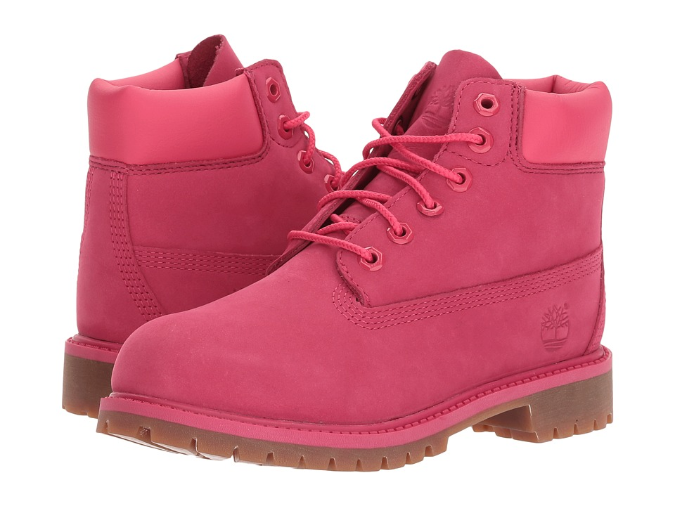 Timberland Kids - 6 Premium Waterproof Boot Core (Little Kid) (Red Rose Waterbuck) Boys Shoes