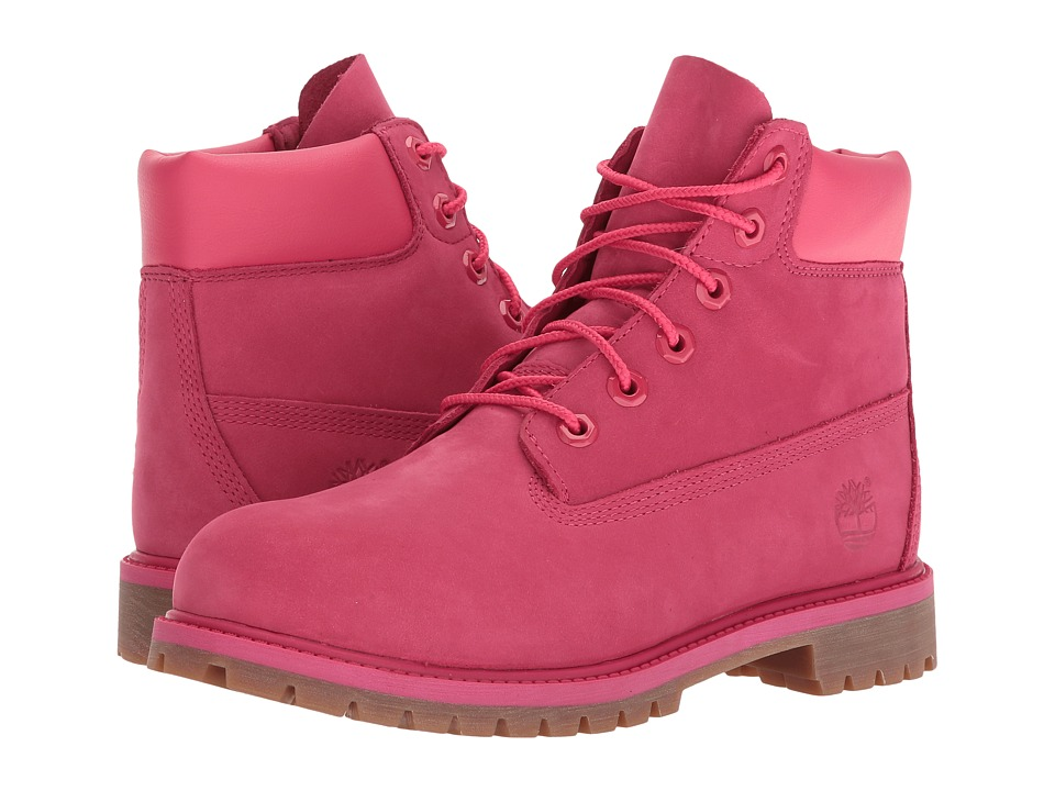 Timberland Kids - 6 Premium Waterproof Boot Core (Big Kid) (Red Rose Waterbuck) Boys Shoes