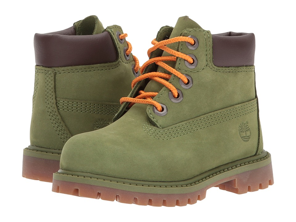 Timberland Kids 6 Premium Waterproof Boot Core (Toddler/Little Kid) (Pesto Waterbuck) Boys Shoes