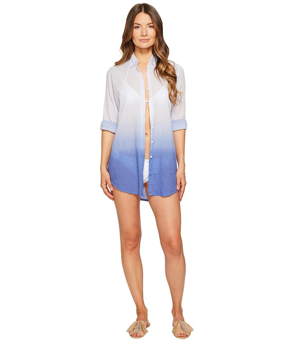 Letarte Ombre Beach Shirt (Bleached Denim) Women