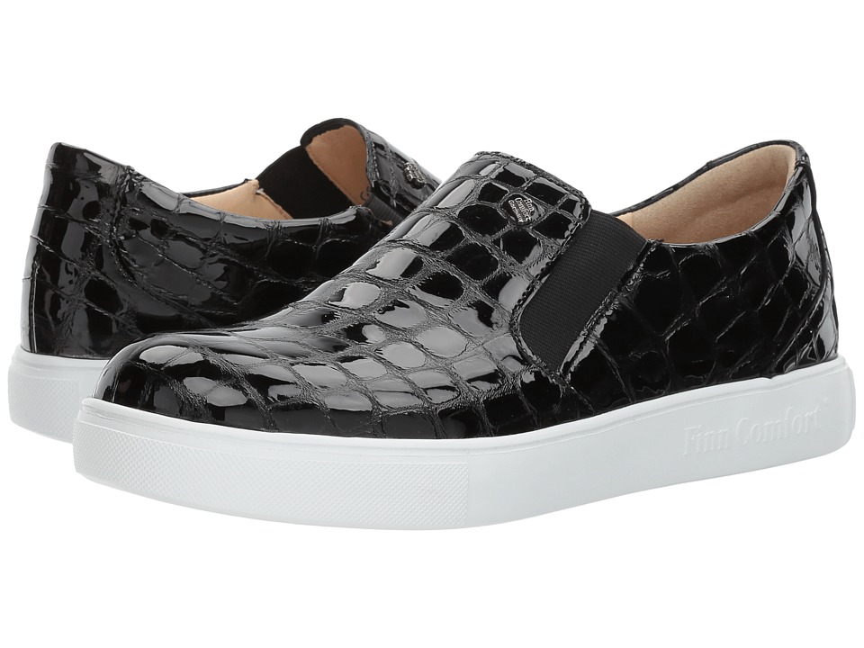 Finn Comfort Clayton (Black Croco) Women