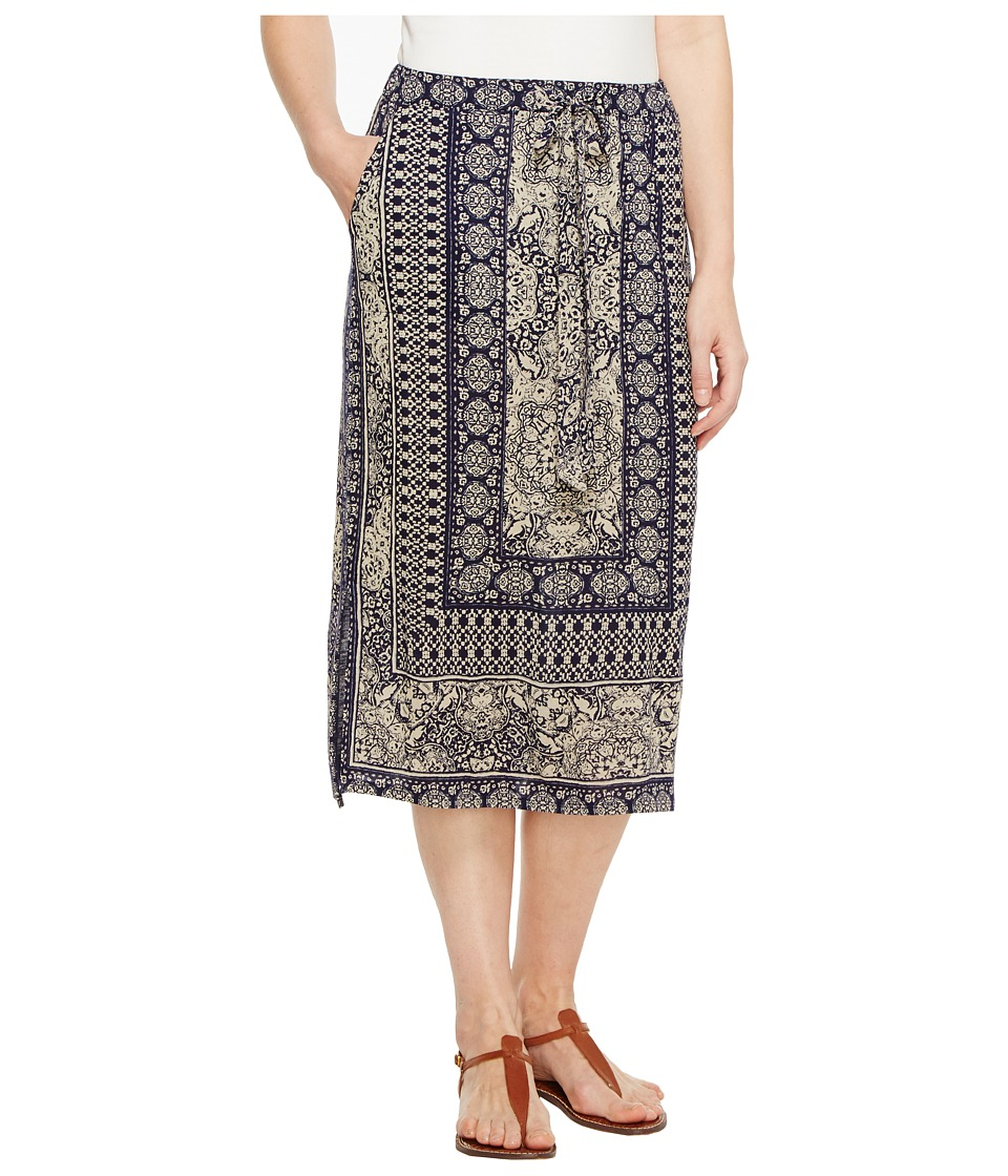 Lucky Brand - Window Tile Skirt (Blue Multi) Women's Skirt