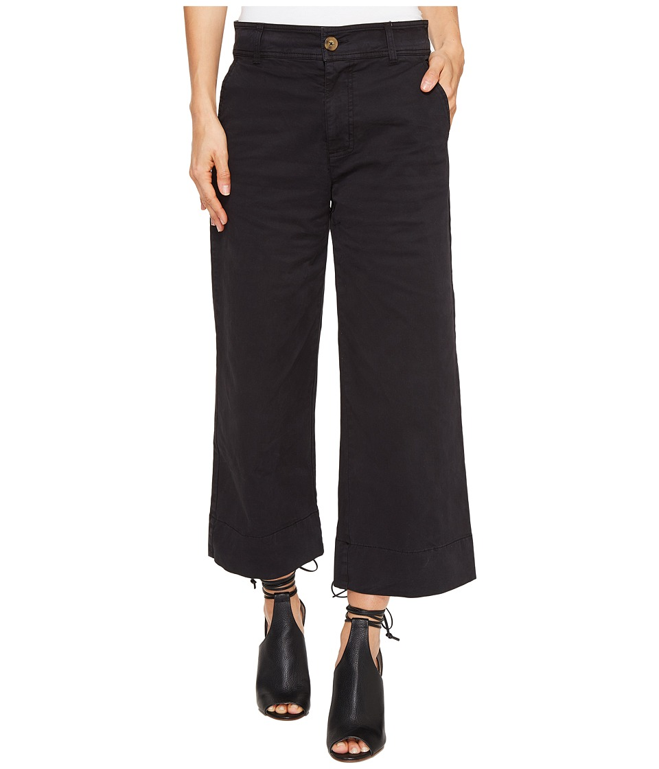 Lucky Brand - Wide Leg Crop in Lucky Black (Lucky Black) Women's Jeans
