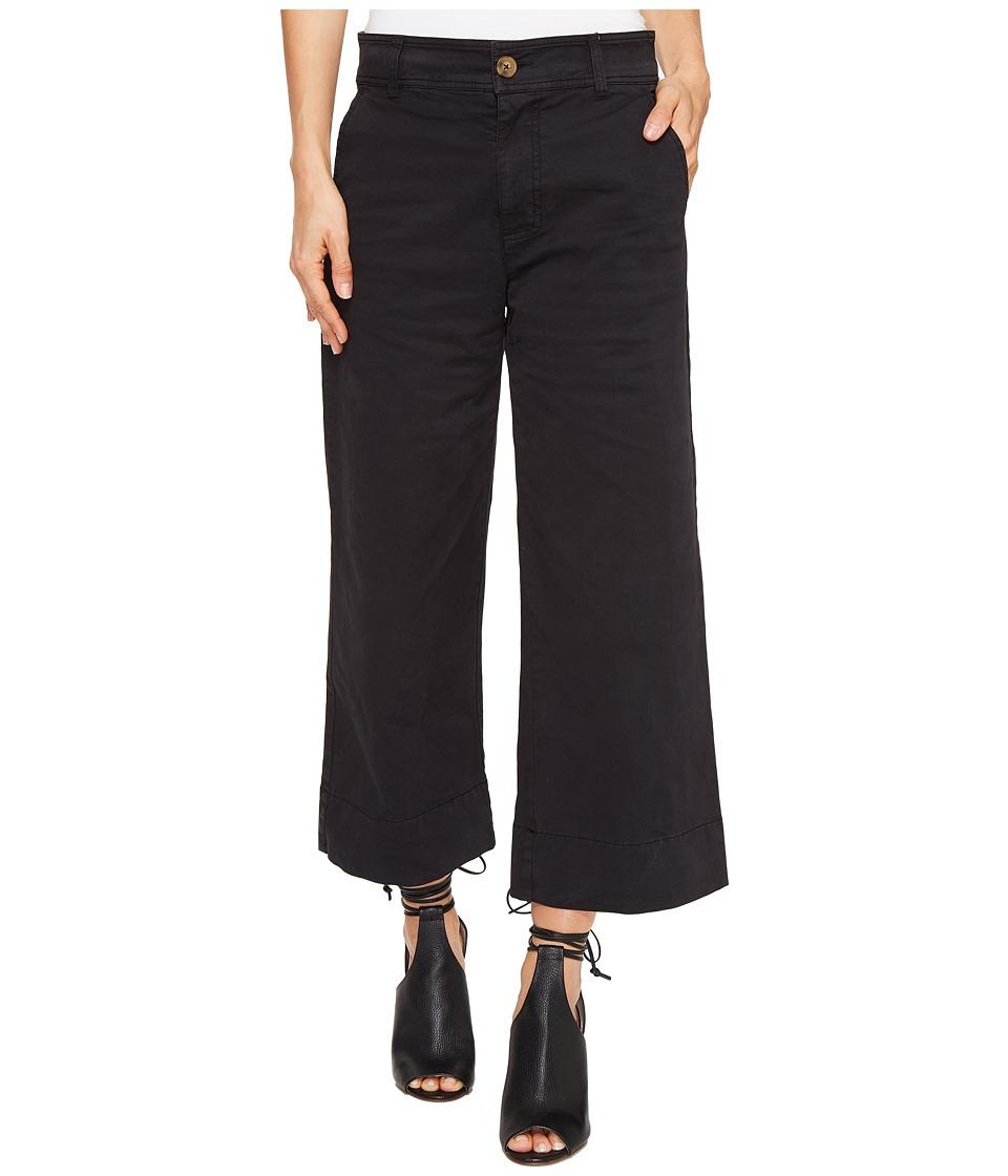 Lucky Brand - Wide Leg Crop in Lucky Black (Lucky Black) Women's Jeans